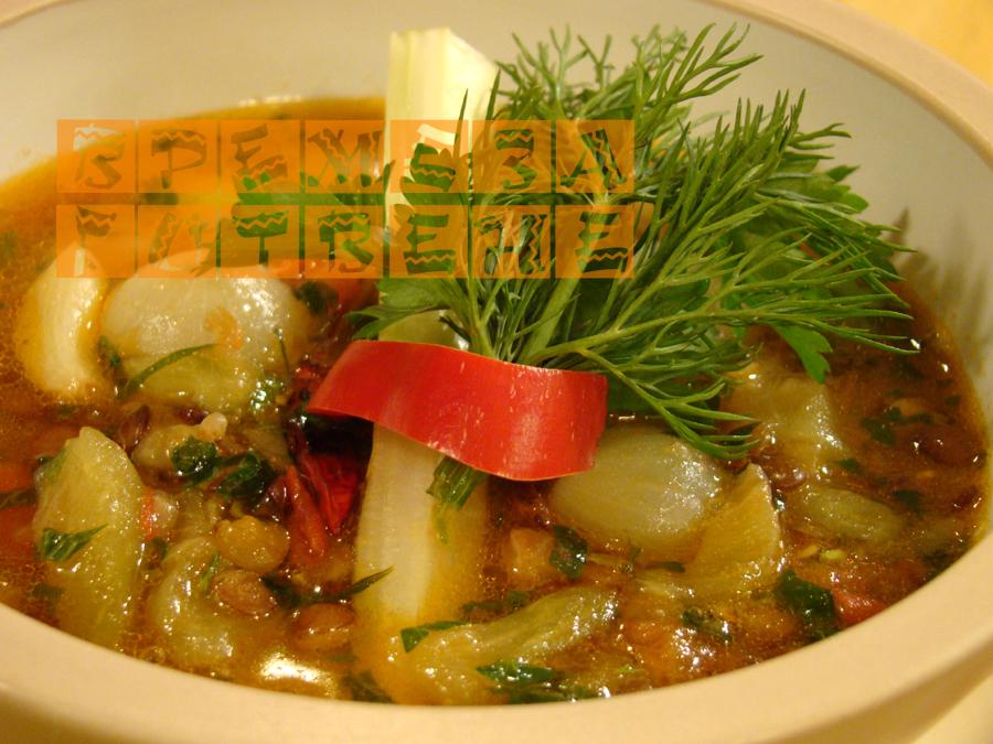 Супа от леща  с патладжани