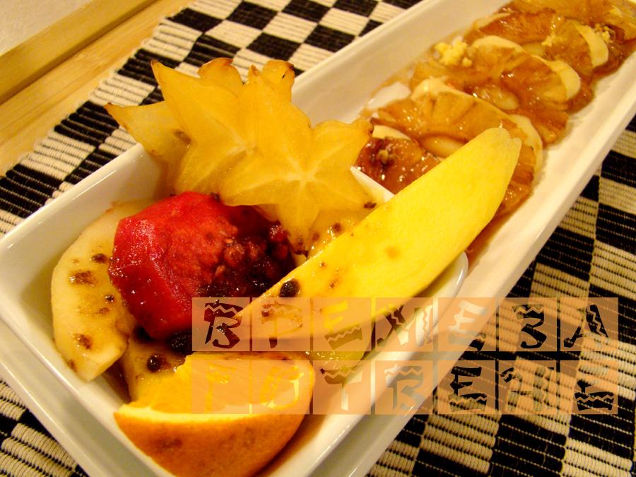 Карамелизиран ананас с английски крем