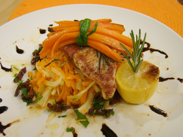 Салата от резене и моркови с маслинов дресинг