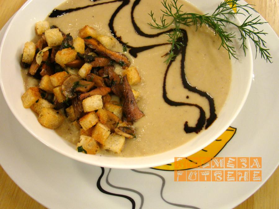 Супа от целина с диви гъби