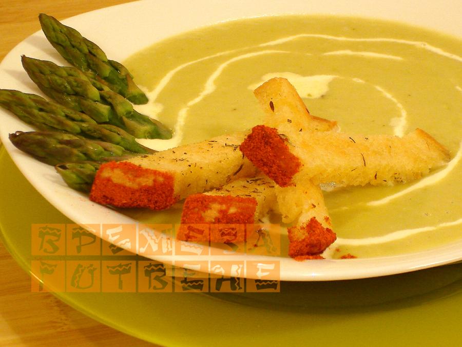 Крем-супа от аспержи с крутони