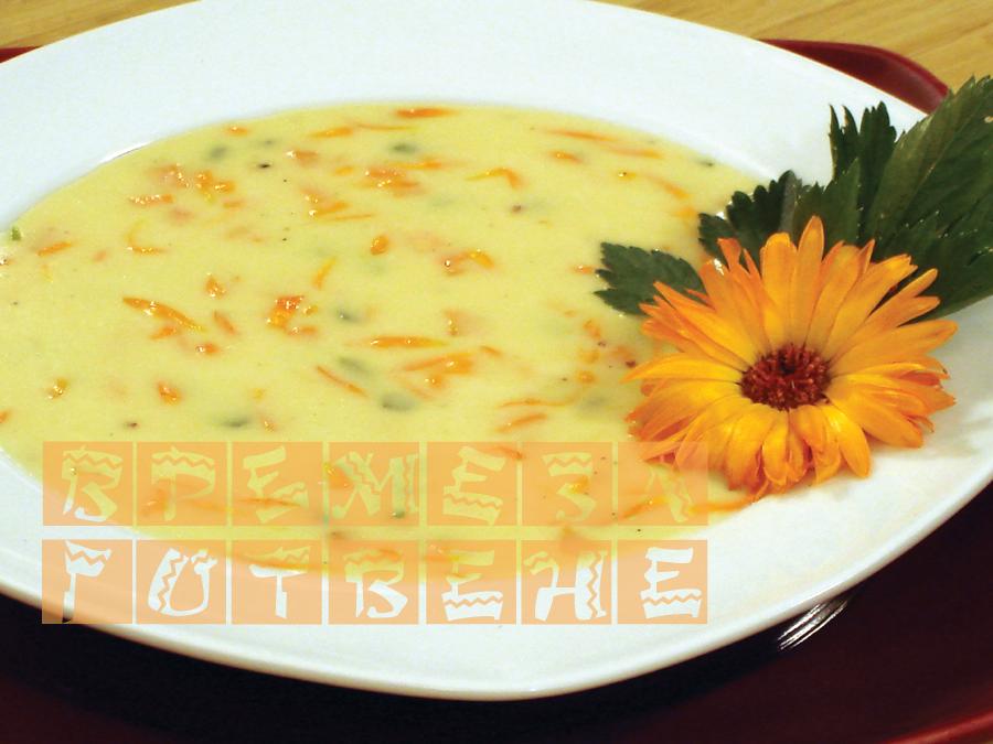 Супа със сирене и невен