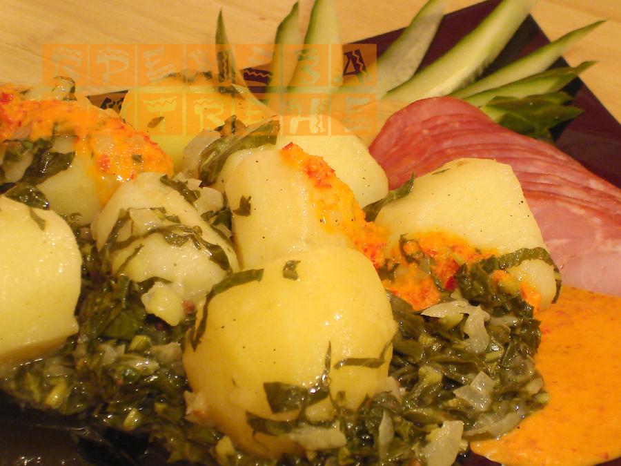 Картофи с лапад и шунка
