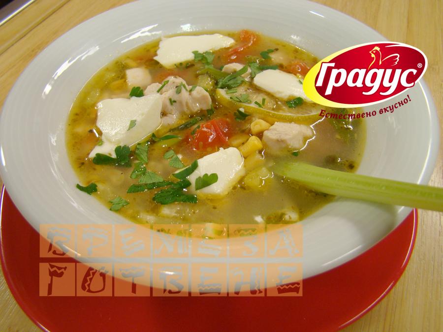 Пилешка супа с лайм